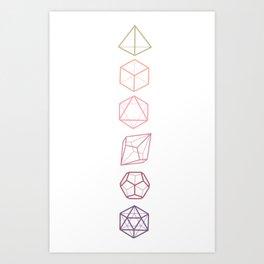 DND Dice Vertical Art Print