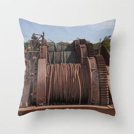 Steel Cables Throw Pillow
