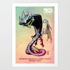 Roswell gang - RazorWing Alpha a.k.a. Puppet Master - Villains of G universe Art Print