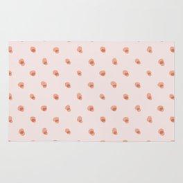 peach pink blobs Rug