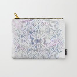 Marble Mandala - Purple Blue Rose Gold Carry-All Pouch