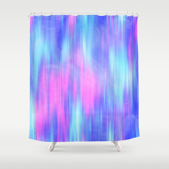 Purple And Teal Shower Curtain. Aurora  Blur Abstract in Pink Purple Aqua Royal Blue Shower Curtain
