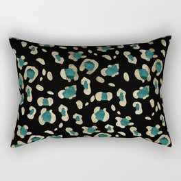 Leopard Animal Print Glam #5 #shiny #pattern #decor #art #society6 Rectangular Pillow