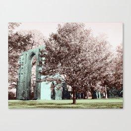 Ruins of Eldena Abbey Frontside Canvas Print