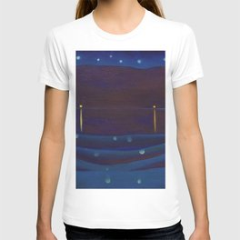 Starlight Night, Lake George, New York landscape painting by Georgia O'Keeffe T-shirt