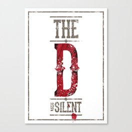 Django - The D is silent Canvas Print