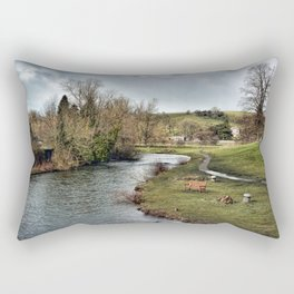 River Wye at Bakewell Rectangular Pillow