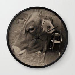 Black and White Cows in Switzerland Wall Clock