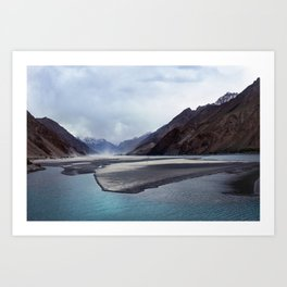 Tajikistan Lake Art Print