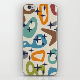 Retro Mid Century Modern Abstract Composition 926 iPhone Skin