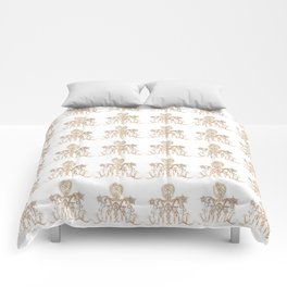 Indian henna in white background Comforters