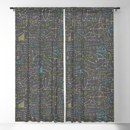 Math Lesson Blackout Curtain
