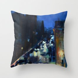 Rainy Morning at the Rockville Centre Cathedral Throw Pillow