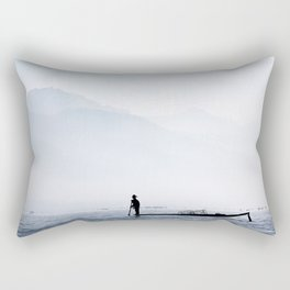 Fisherman in Myanmar Rectangular Pillow