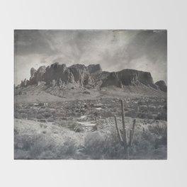 Superstition Mountain - Arizona Desert Throw Blanket