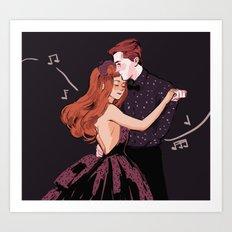 Hades & Persephone Dance Art Print