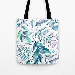 Teal manic botanic Tote Bag