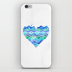 A Sea of Love (white) iPhone Skin