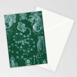 Ernst Haeckel Siphonophorae Hydrozoan Stationery Cards