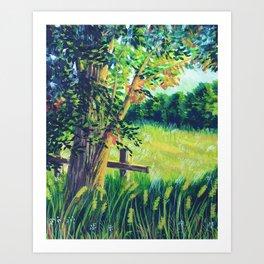 Green Meadow Art Print