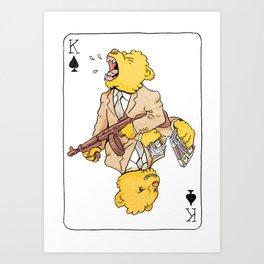 King of Spades Goldie Art Print