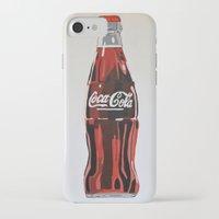 coca cola iPhone & iPod Cases featuring Coca-Cola by Marta Barguno Krieg