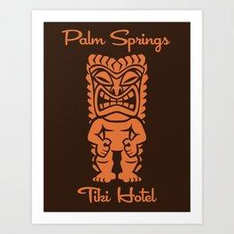 Tiki Hotel Logo Art Print