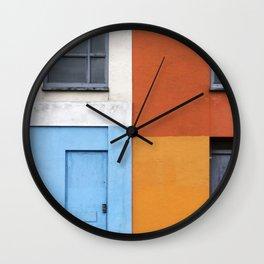 White Red Blue Orange Wall Clock