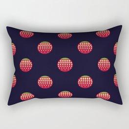 strawberry || russian black || pattern Rectangular Pillow