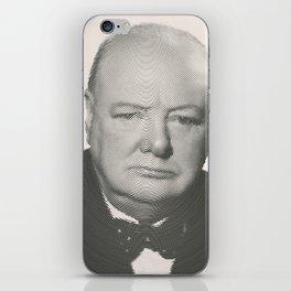 Winston Churchill Spiral Portrait iPhone Skin
