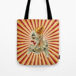 Scary vintage circus clown Tote Bag