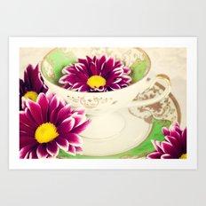 Tea Petals Art Print