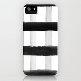 Black and White Brush Strokes iPhone Case