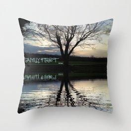 Family First Throw Pillow