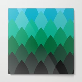 Forest Ombré Metal Print