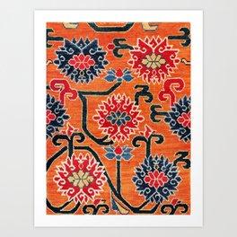 Shigatse South Tibetan Jabuye Rug Print Art Print