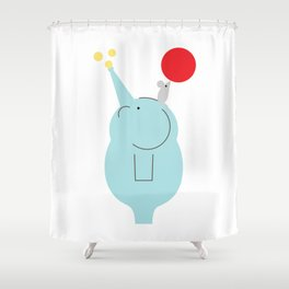 Big and Small Shower Curtain