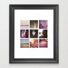 resonances collage Framed Art Print