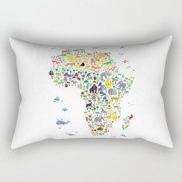 Animal Map of Africa for children and kids Rectangular Pillow