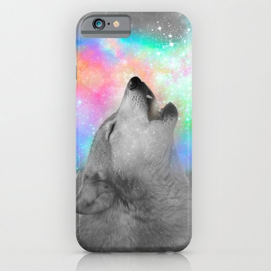 Breathing Dreams Like Air (Wolf Howl Abstract II: Gray) iPhone & iPod Case