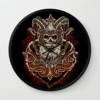 viking Wall Clocks featuring VIKING by Demones