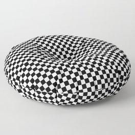 Black And White Checks Minimalist Floor Pillow