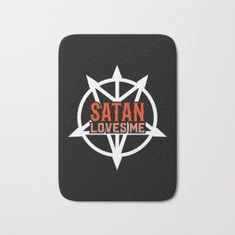 Satan Loves Me - Atheist Atheism Religion Satanic Bath Mat