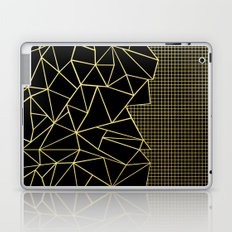Ab Outline Grid Black and Gold Laptop & iPad Skin