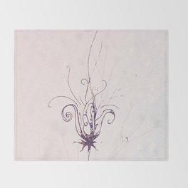Whimsical Wilde Flower Throw Blanket