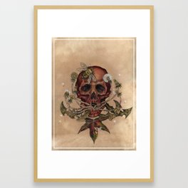 Skull with Bee Framed Art Print