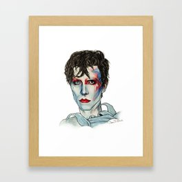 Ashes to Ashes Bowie Framed Art Print