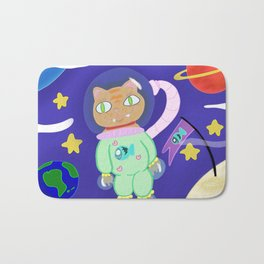 Space Cat Bath Mat