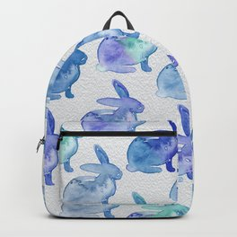 Watercolor Bunnies 1J by Kathy Morton Stanion Backpack