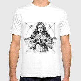 Lady with Skull. Yury Fadeev. T-shirt